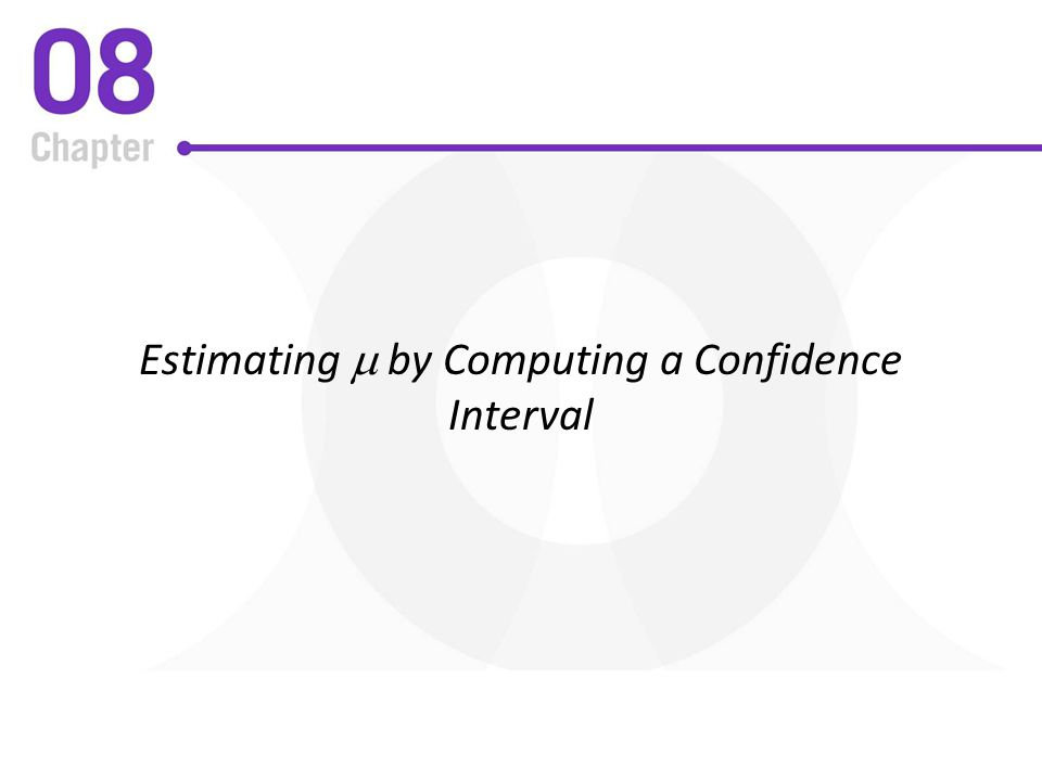 Estimating m by Computing a Confidence Interval
