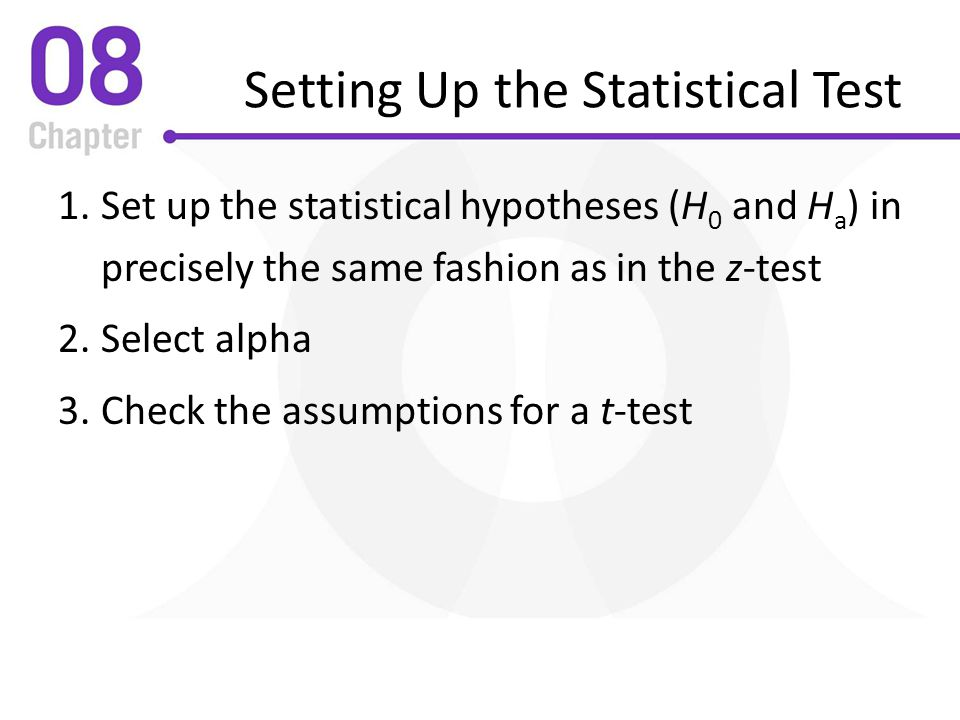 Setting Up the Statistical Test