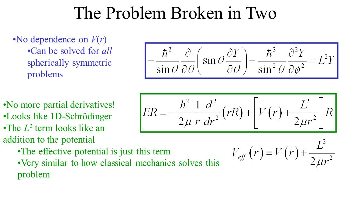 The Problem Broken in Two