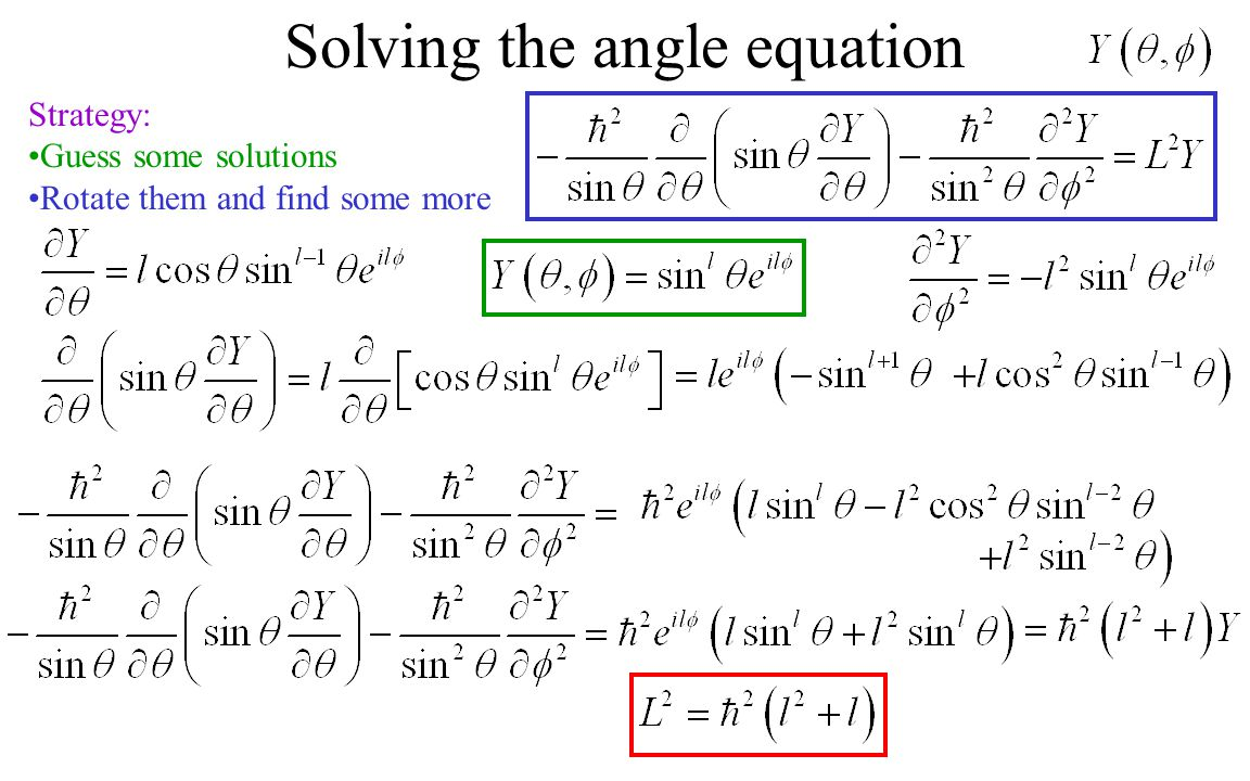 Solving the angle equation