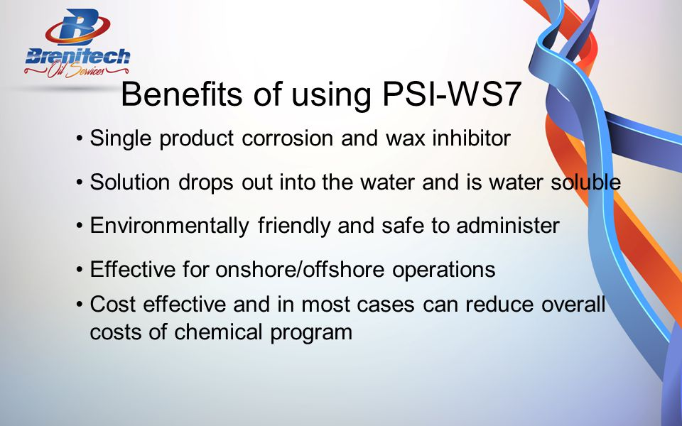 Benefits of using PSI-WS7