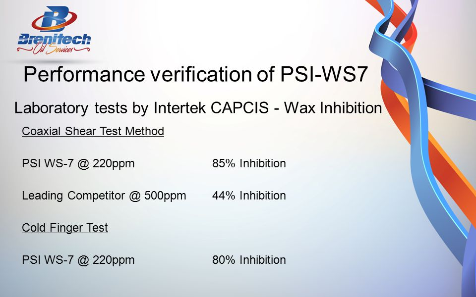 Performance verification of PSI-WS7