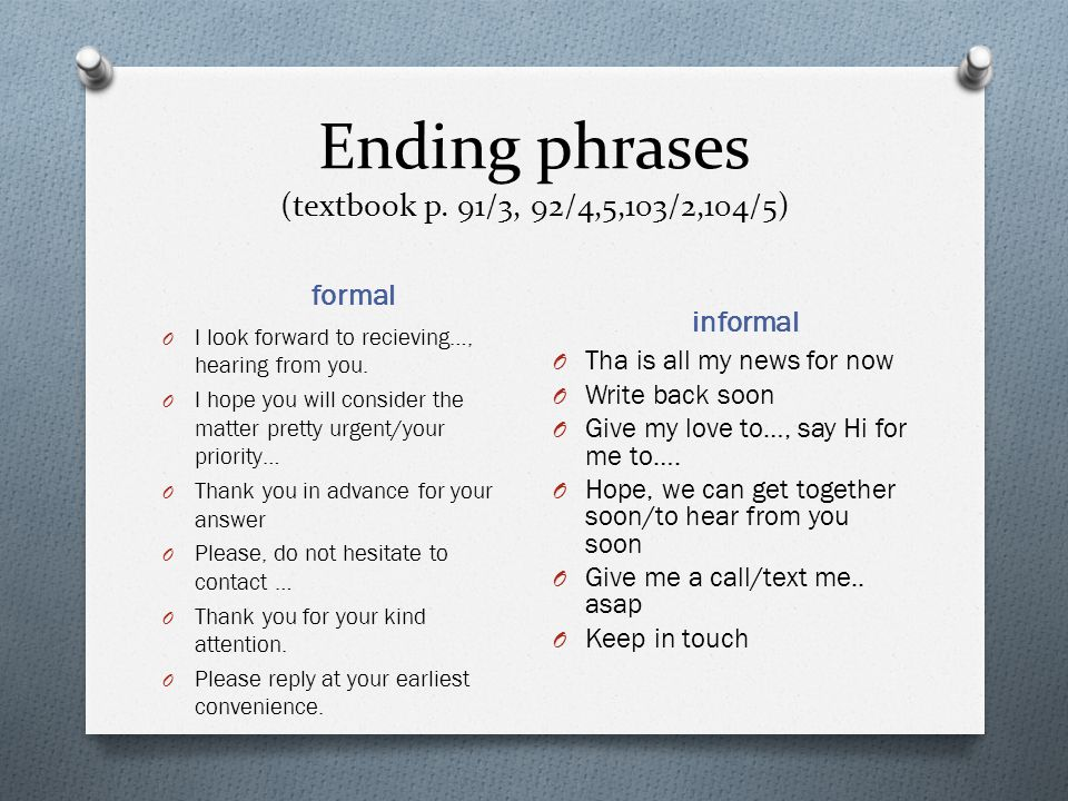 Formal Letter Closing Phrases from slideplayer.com