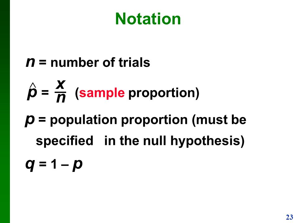 p = (sample proportion) x n