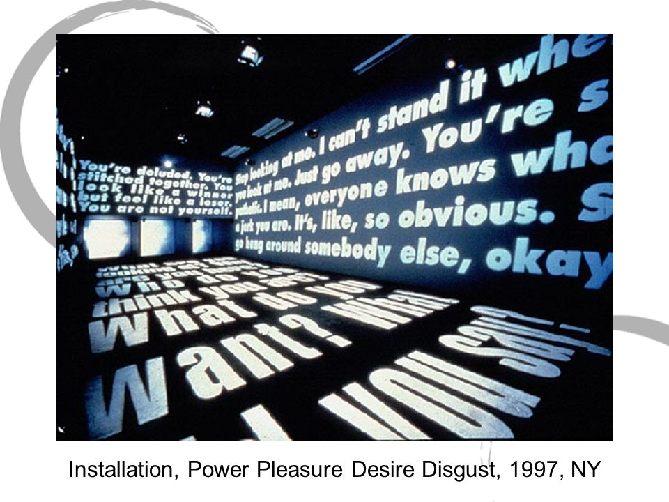 Barbara kruger power pleasure desire disgust