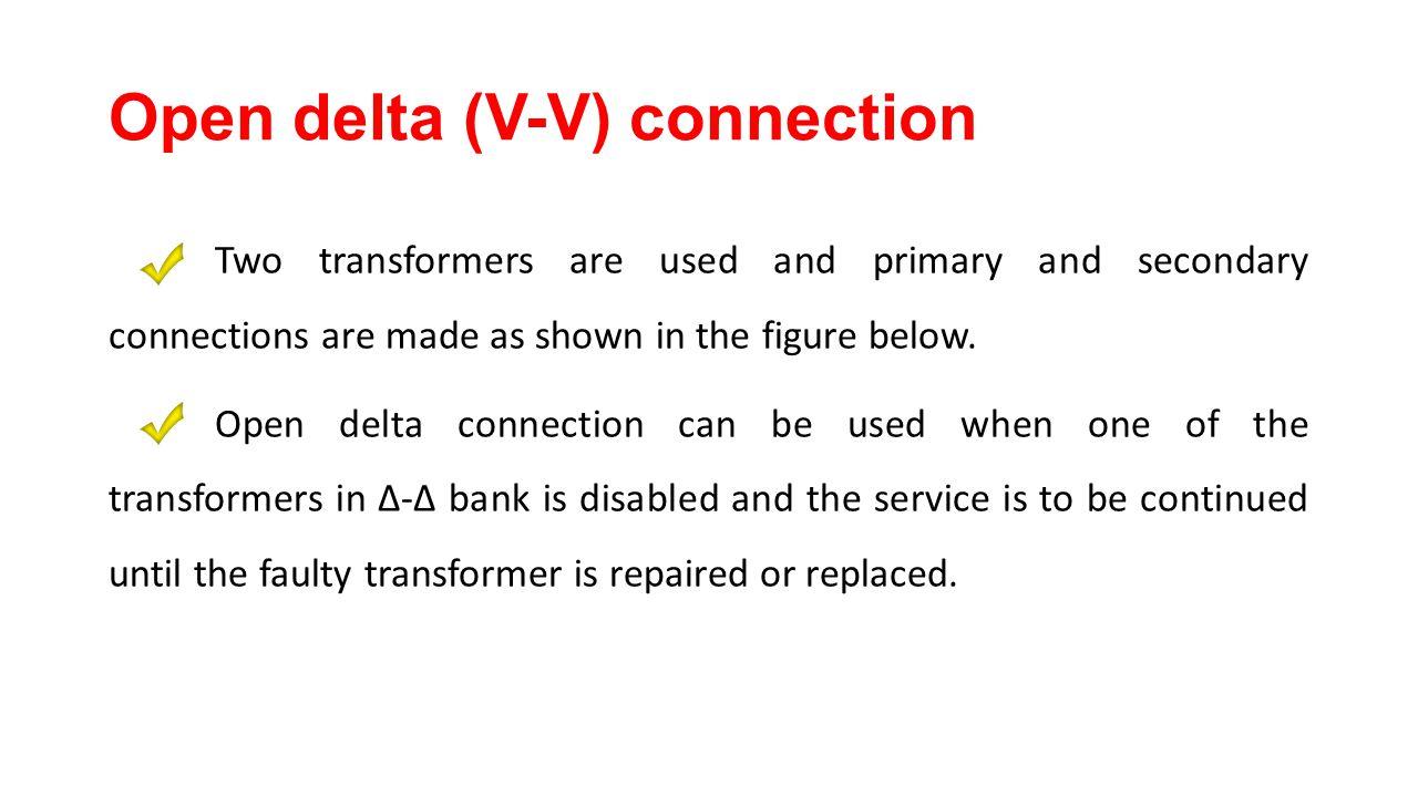 47 Open delta (V-V) connection