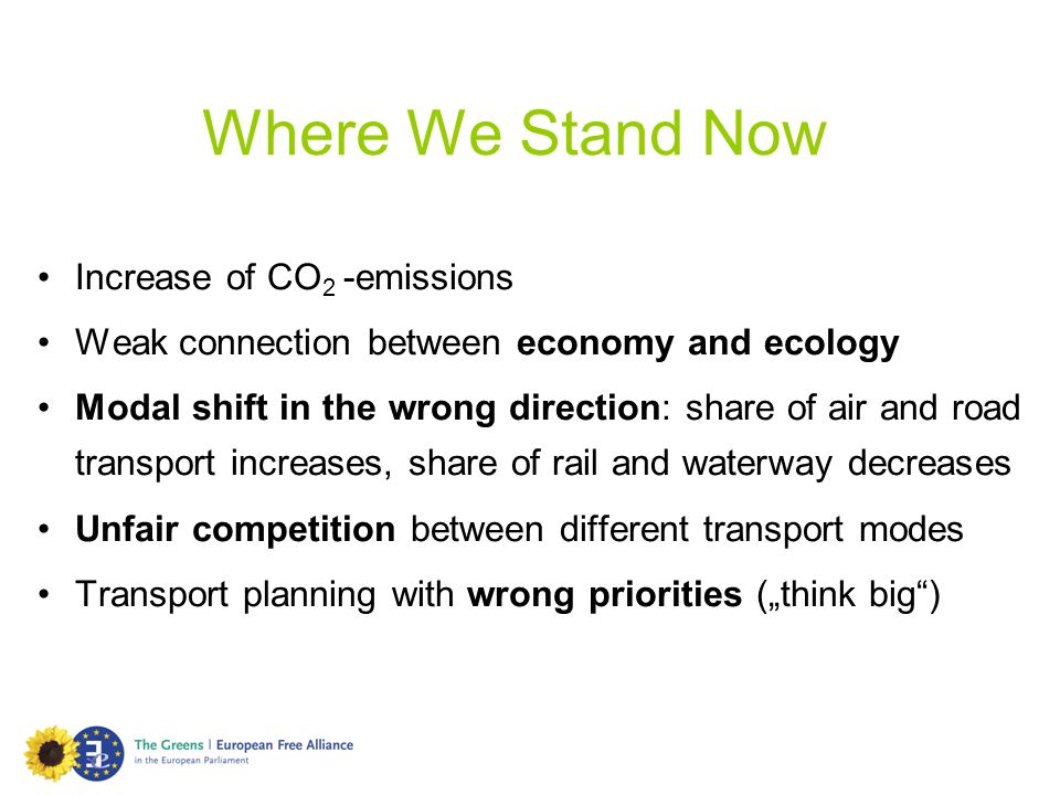 Where We Stand Now Increase of CO2 -emissions