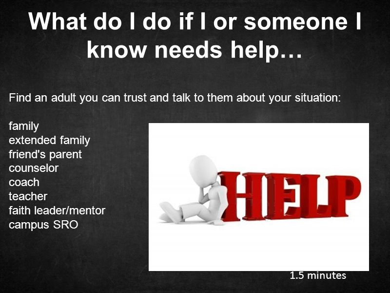 What do I do if I or someone I know needs help…