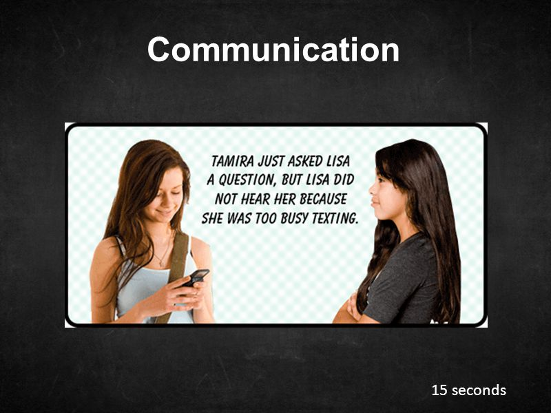 Communication 15 seconds