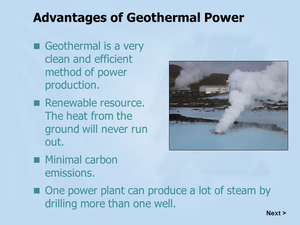 Advantages of Geothermal Power