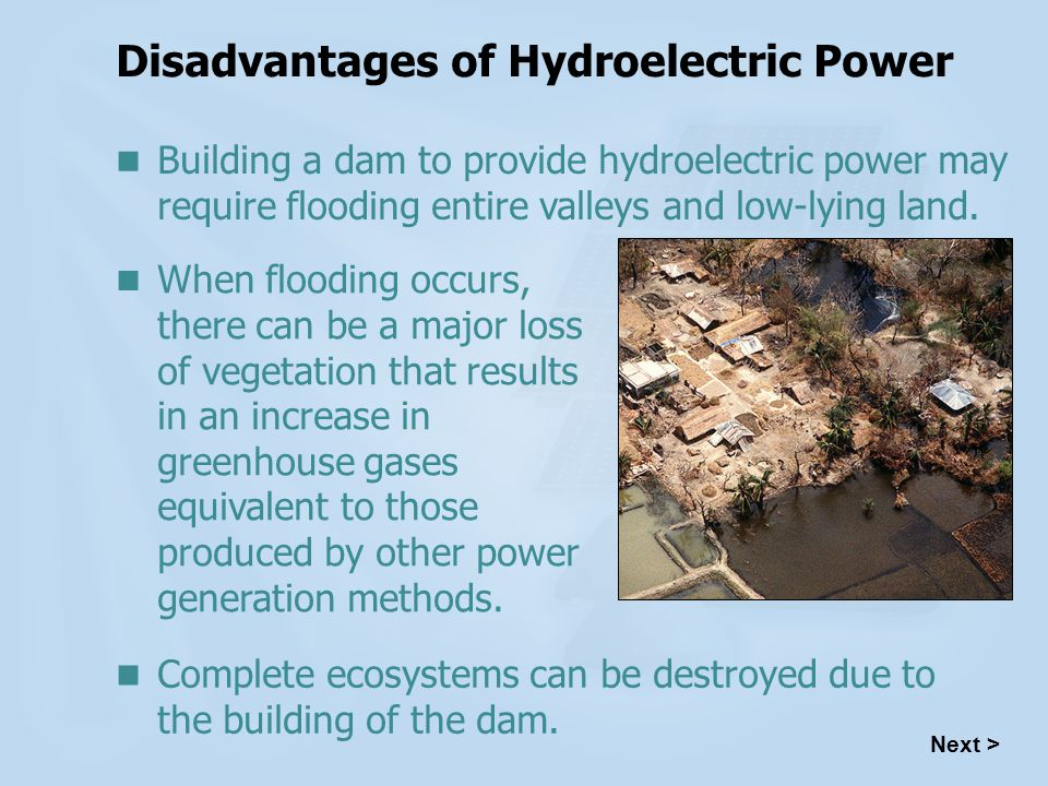 Disadvantages of Hydroelectric Power