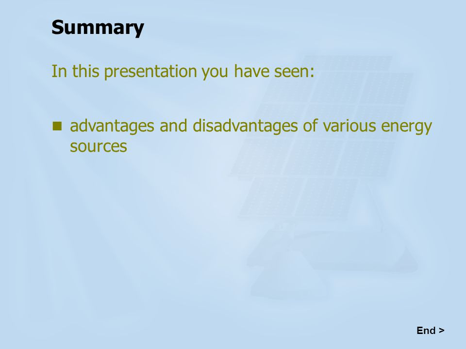Advantages And Disadvantages Of Energy Sources Ppt Video