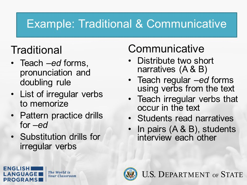 Example: Traditional & Communicative
