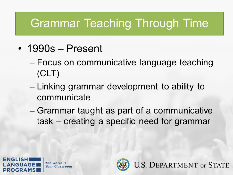 Grammar Teaching Through Time
