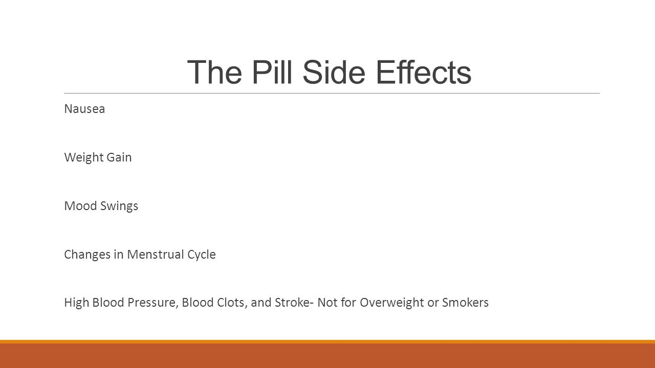The Pill Side Effects Nausea Weight Gain Mood Swings