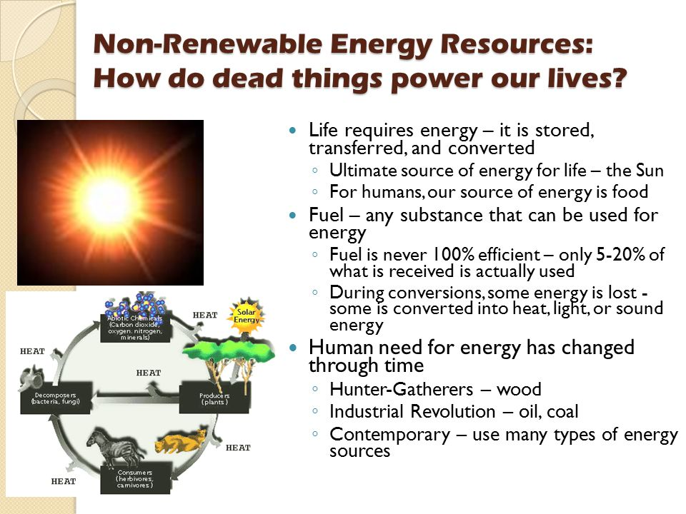 Non-Renewable Energy Resources: How do dead things power our lives
