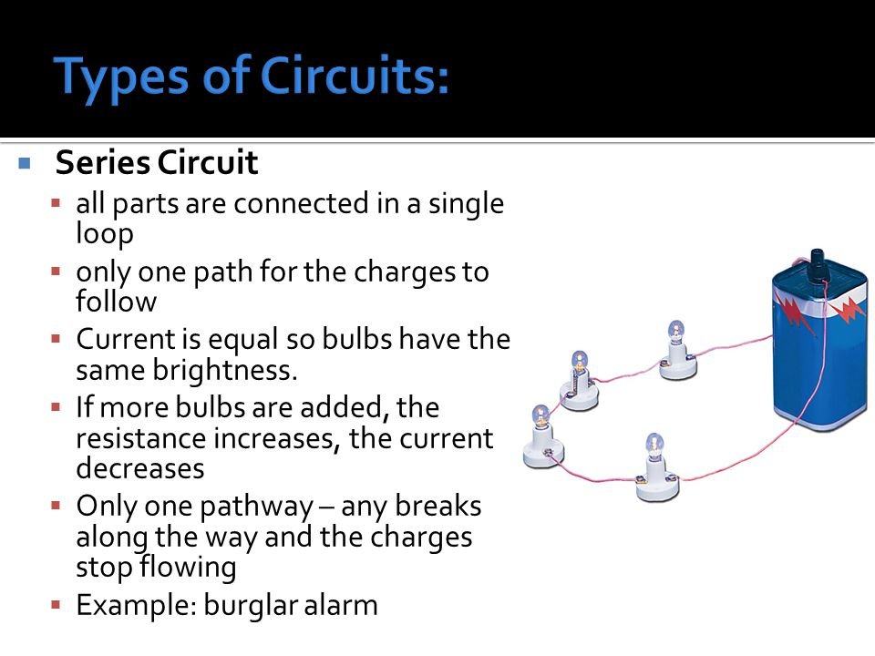 Types of Circuits: Series Circuit