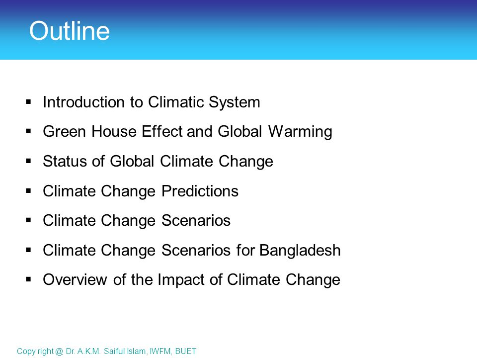 global warming outline