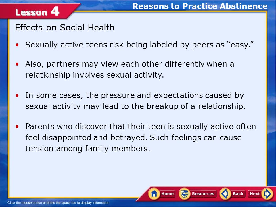 When do teens become sexually active