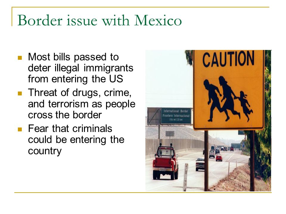 Border issue with Mexico