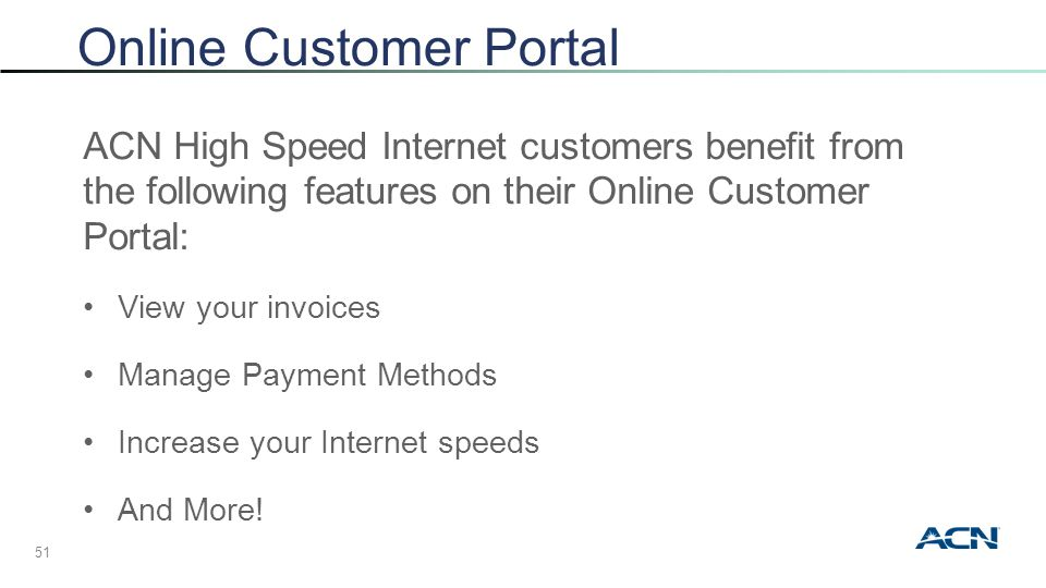 ACN High Speed Internet + Voice - ppt video online download