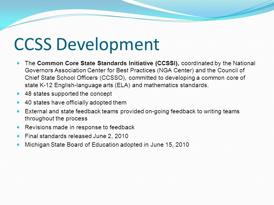 CCSS Development