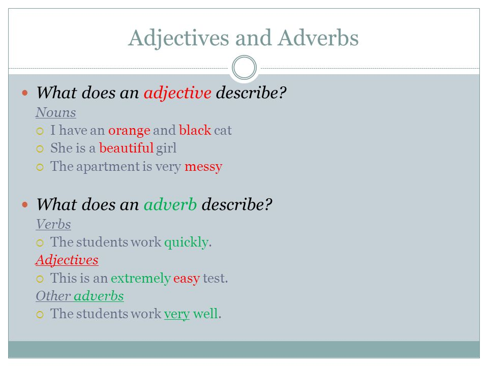 Adjectives and Adverbs - ppt video online download