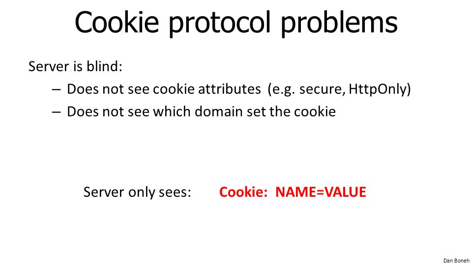 Cookie protocol problems