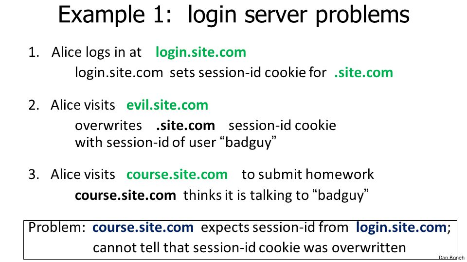 Example 1: login server problems