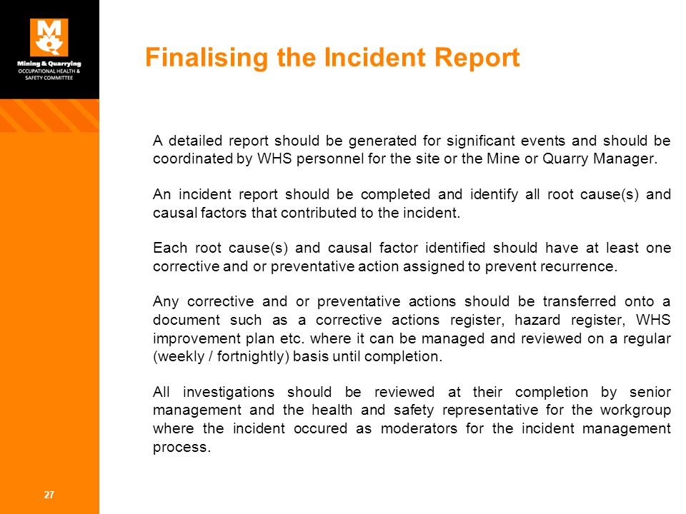 Incident Management Reporting And Investigation Ppt Video Online