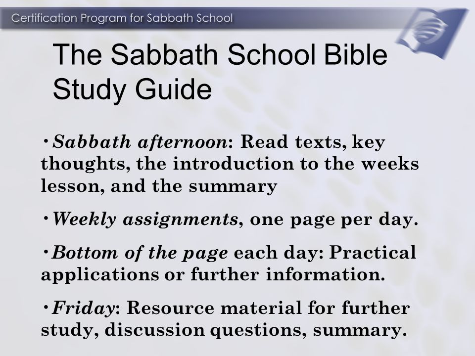 how to prepare for and teach a sabbath school class ppt video rh slideplayer com Sabbath School Teaching Welcome to Sabbath School
