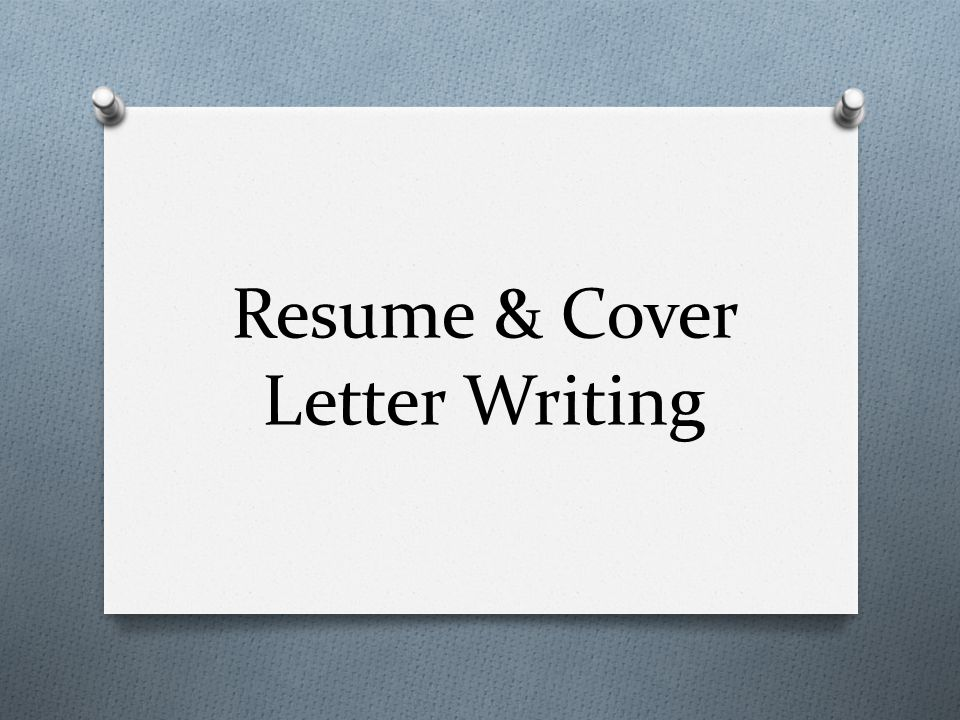 Resume Cover Letter Writing Ppt Download