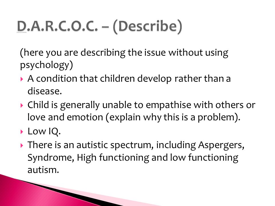Key Issue - Is autism an extreme male condition?  - ppt download