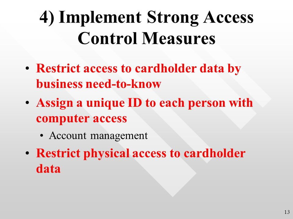 4) Implement Strong Access Control Measures
