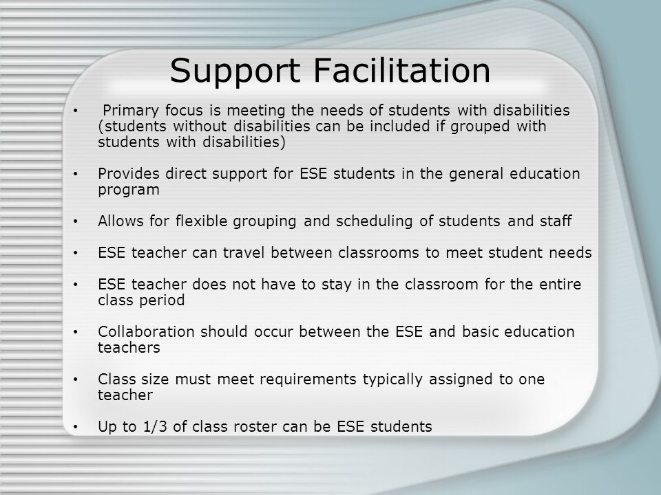 Support Facilitation