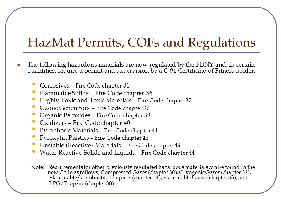New Hazardous Materials Regulations Laboratory Non Laboratory