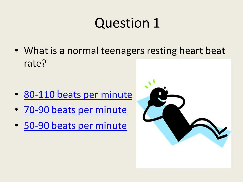 Heart rate in teens