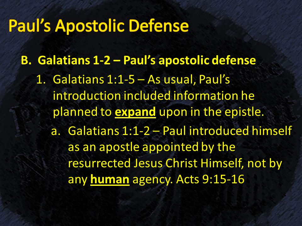 pauls letter to the galatians analysis