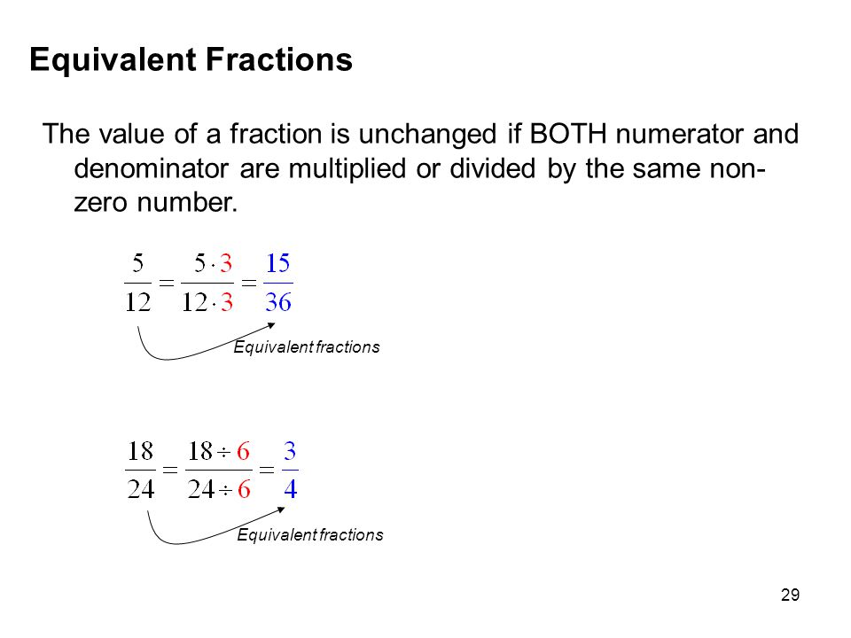 MAT 105 SPRING 2009 Equivalent Fractions.