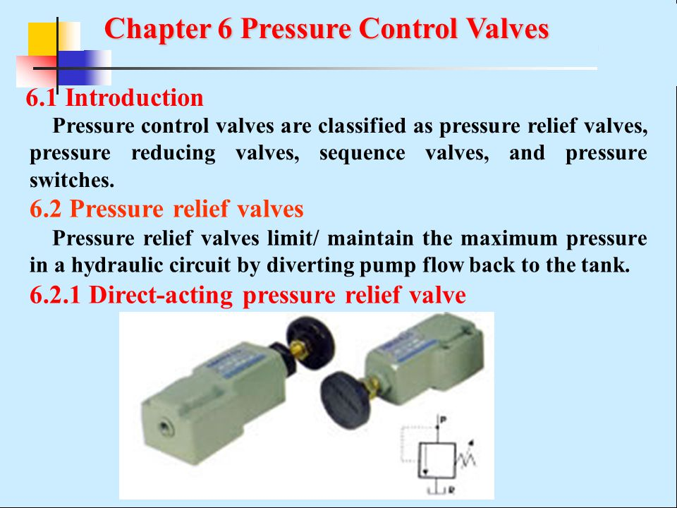 Chapter 6 Pressure Control Valves - ppt video online download