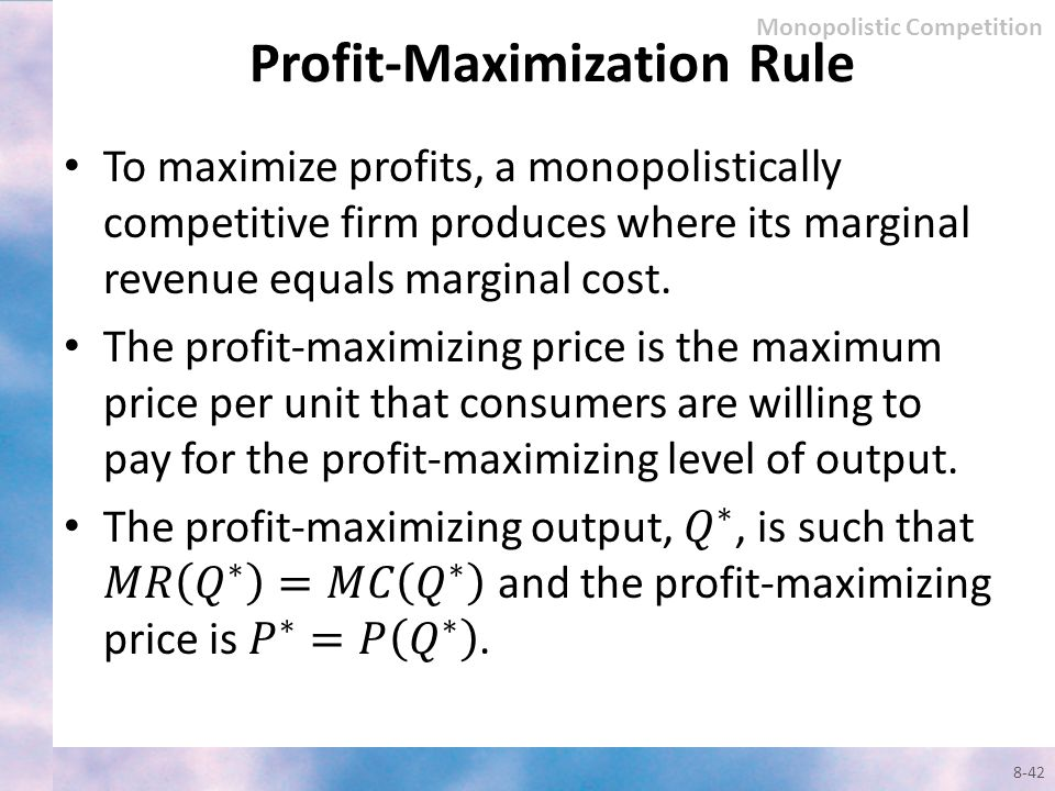 Profit-Maximization Rule