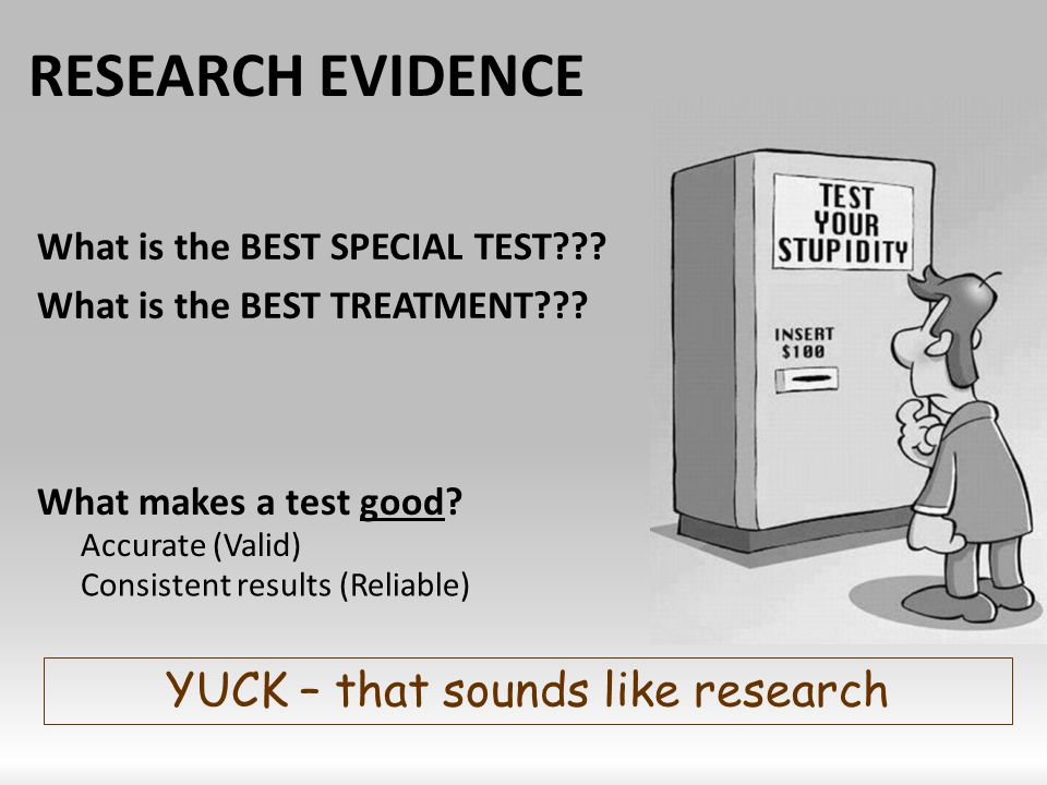 YUCK – that sounds like research