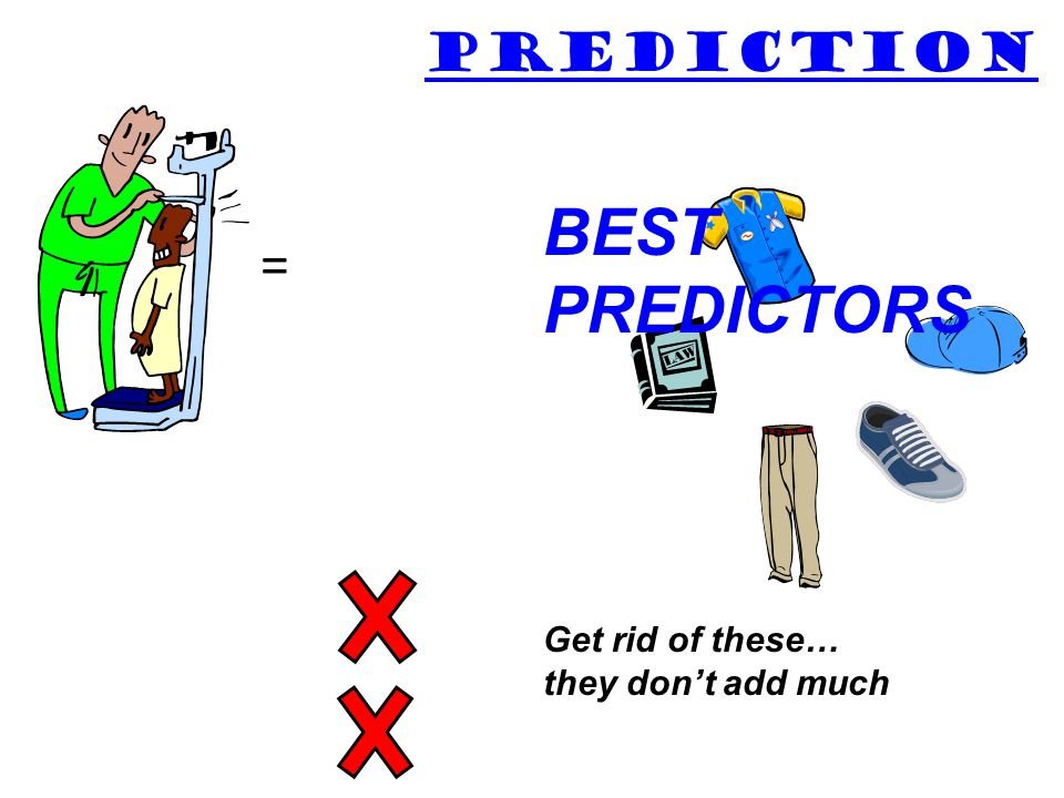 PREDICTION BEST PREDICTORS = Get rid of these… they don't add much