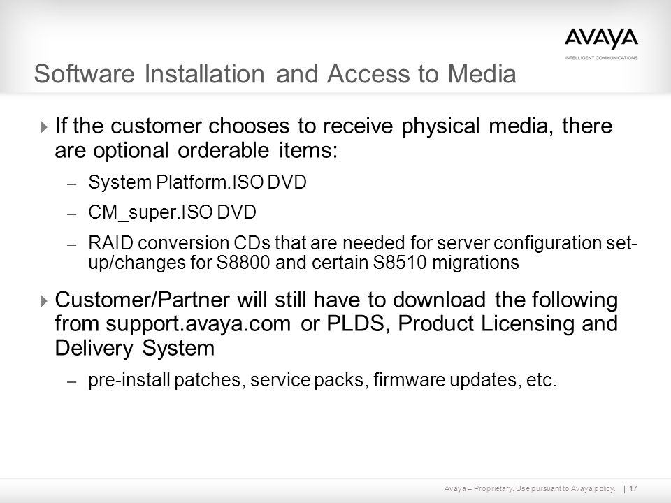 Avaya Aura™ Communication Manager Release 6 0 Overview - ppt video