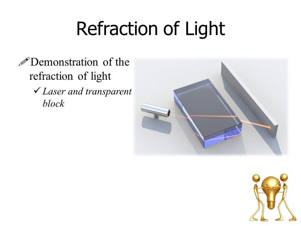 Refraction of Light Demonstration of the refraction of light