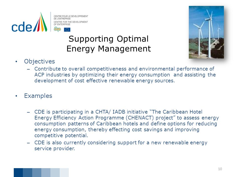 Supporting Optimal Energy Management
