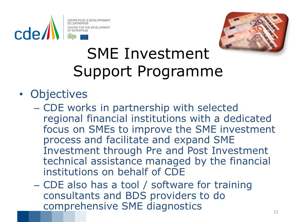 SME Investment Support Programme