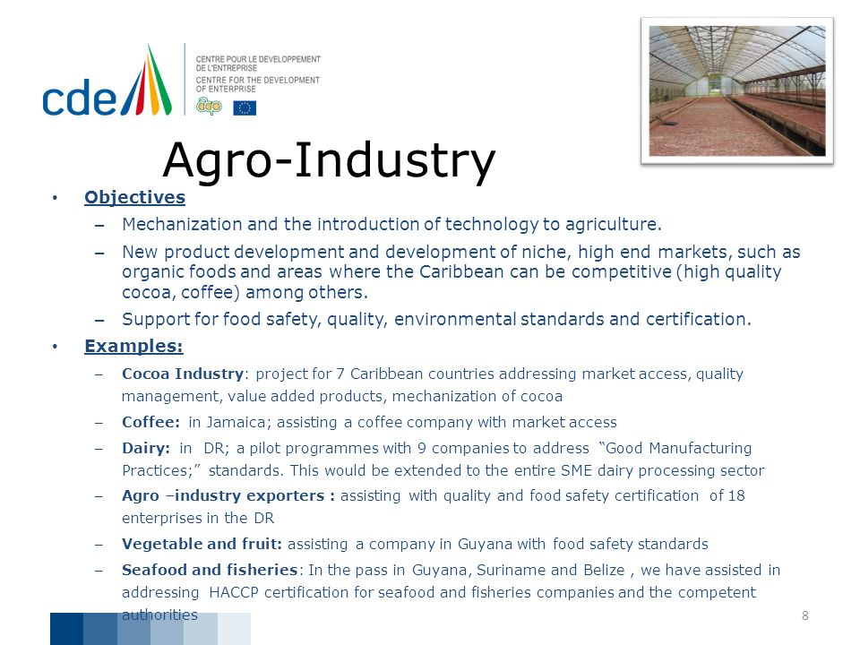 Agro-Industry Objectives