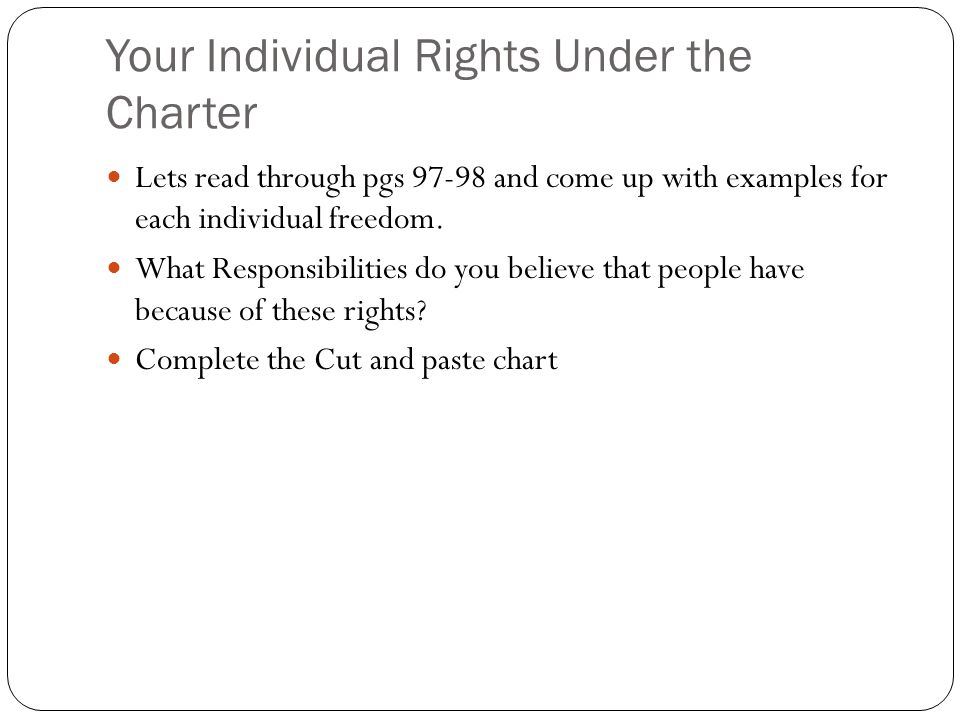 How Does The Charter Protect Individual Rights And Freedoms Ppt