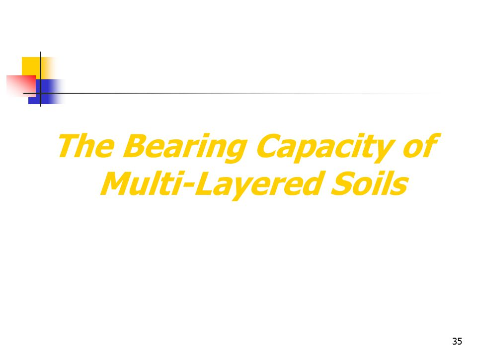 The Bearing Capacity of Multi-Layered Soils